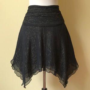 Express Silk Black with Metallic Gold Skirt